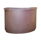 Beauty Spa Reception Desk -Light Coffee