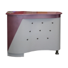 Beauty Spa Reception Desk - White/ Pink