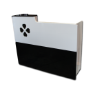 Four-Leaf Clover Spa Salon Reception Desk- Black/White