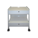 Double Drawer Supply Cart