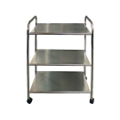 3 Shelf Chrome Tray Rolling Cart
