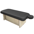 Adjustable Stationary Massage Table With Cabinet