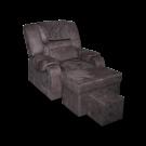 MU0321 Plush Fabric Foot Massage Sofa w/ Armrests- Metal Frame