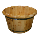 Wooden Foot Soaking Barrel Cask w/Round Rim