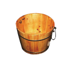Wooden  Round Foot Soaking Barrel Cask w/ Rope Handles