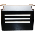 Beauty Spa Salon Reception Desk- Black/Silver