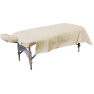 Flannel Massage Table Sheet  3pc Set- Beige