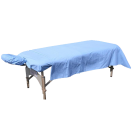 Flannel Massage Table Sheet 3pc Set- Blue