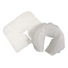 Disposable White Flat Face Rest Cover -Thick