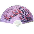 "Large 84"" Folding Chinese Wall Fan Oriental Paper Hanging (Cherry Blossom)"