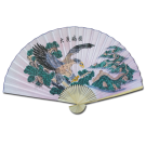 "Large 84"" Folding Chinese Wall Fan Oriental Paper Hanging (Eagle)"