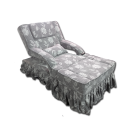 Electric Skirt Draped Fabric Foot Massage Sofa- Flower
