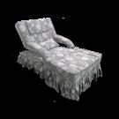 Electric Skirt Draped Fabric Foot Massage Sofa- Flower