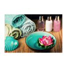 Relaxing Massage Decoration Picture Poster- Blue Bowl