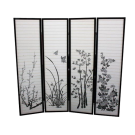 4 Panel Folding Screen Room Divider- Butterfly