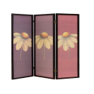 Folding Screen Room Divider- Flower