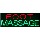 "LED Neon Rope Strip Indoor Window Display Sign- ""Foot Massage"" Free Shipping"
