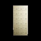 Heavy Duty Metal Compartment Locker - 18 Lockers Thick