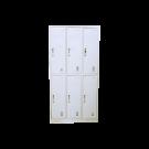 Heavy Duty Metal Compartment Locker - 6 Lockers Thick