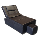 Coffee Manual PU Reclining Foot Massage Sofa- Metal Frame