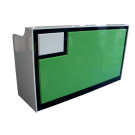 Retro Style Spa Salon Reception Desk- Green/White