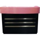 Beauty Spa Salon Reception Desk- Black/Pink