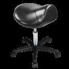 Master Saddle Stool Hydraulic Ergonomic Office Massage Rolling Chair (Black) Free Shipping