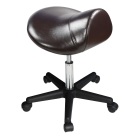 Master Saddle Stool Hydraulic Ergonomic Office Massage Rolling Chair (Coffee) Free Shipping