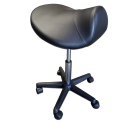 TOA Black Saddle Stool Hydraulic Ergonomic Office Massage Rolling Chair Free Shipping