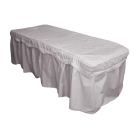 Spa Massage Table Cover With Skirt -White