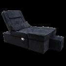 Black Manual Fabric Reclining Foot Massage Sofa- Flat