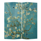 4 Panel Folding Screen Canvas Room Divider - Vincent van Gogh's Almond Blossoms FREE SHIPPING