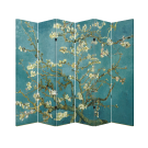 6 Panel Folding Screen Canvas Divider- Vincent Van Gogh's Almond Blossoms Free Shipping
