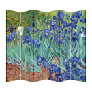 6 Panel Folding Screen Canvas Divider-Van Gogh Irises  Free Shipping