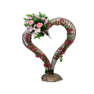 Floral Vine Heart Bronze Decoration 