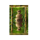 XL Relaxing  Massage Decorations Picture Poster- Bamboo & Stones