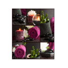 XL Relaxing Massage Decorations Picture Poster- Pink Towel