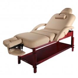 "30"" Master Massage Claudia Stationary Massage Table Tilting Backrest Wood Fram"