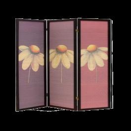 Folding Screen Room Divider- Flower
