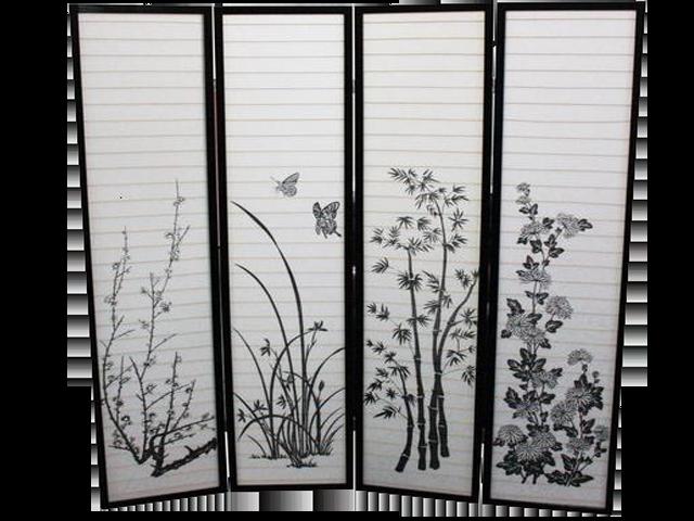 4 Panel Folding Screen Room Divider Erfly