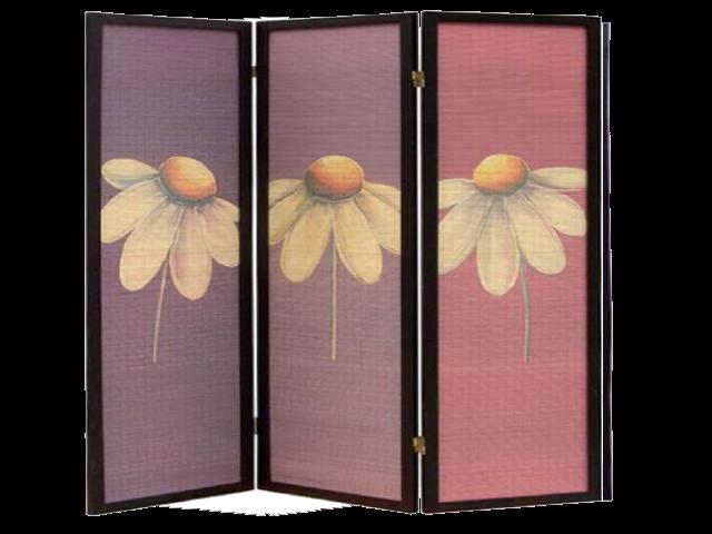 Folding Screen Room Divider Flower Massage Spa Equipment