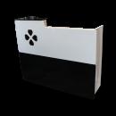Four-Leaf Clover Spa Salon Reception Desk- Black/White