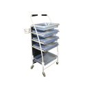 5 Tray Beautician Cart - Blue