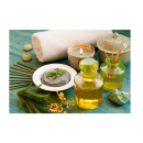 Relaxing Massage Decoration Picture Poster- Green Oil