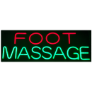 """LED Neon Rope Strip Indoor Window Display Sign- """"Foot Massage"""" Free Shipping"""