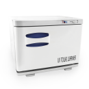 TOA Spa Beauty Salon Equipment UV Light Sterilizer Hot Towel Warmer Cabinet w/ Tray 2 in 1 (8S)
