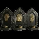 3 Panel Buddha Faces Candle Holder