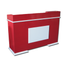 Plaque Spa Salon Reception Desk- Red/White