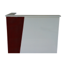 Beauty Spa Salon Reception Desk- Red/Gray