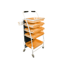 5 Tray Beautician Cart - Orange